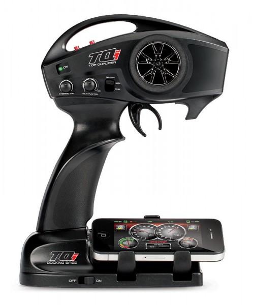 Traxxas XO-1 — TRAXXAS XO-1 Самая быстрая радиоуправляемая модель суперкара. Разгон до 100 км/ч за 2,3 сек. Разгон до 160 км/ч за 4,9 сек. В комплекте с XO-1 идет полностью новая система радиоуправления с телеметрией Traxxas TQi, с интегрированной докинг станцией для подключения iPhone или iPod Touch.